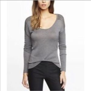 Express high low studded sweater